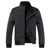 冬装毛呢外套男士夹克短款加厚呢子羊毛大衣商务休闲男装加绒保暖