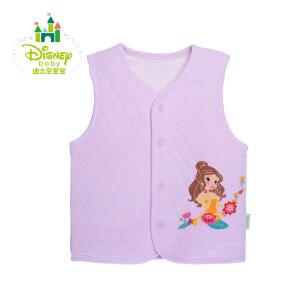 迪士尼Disney婴儿衣服秋冬男女宝宝保暖新生儿背心婴儿马甲冬装154S674