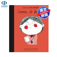 英文原版 小女孩,大梦想:波伏娃 Simone de Beauvoir 名人传记 Little People, Big