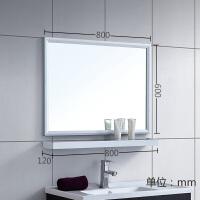 家居生活用品浴室镜子 太空铝洗漱化妆镜挂墙式 卫生间卫浴镜带置物架组合套装 其他