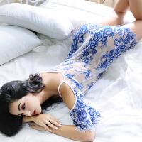 夏极度性感睡衣透明女蕾丝诱惑大码吊带睡裙情趣内衣