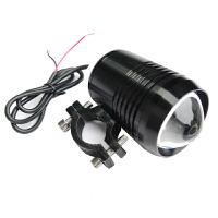 电动车摩托车改装LED大灯 高亮防水激光炮强光灯泡前大灯 爆闪射灯 鬼火改装配件 黑色 送开关