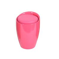 塑料收纳凳子储物凳可坐ABS时尚酒桶椅化妆凳换鞋凳收纳凳子 3L-4L