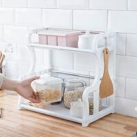 物有物语 厨房置物架 厨房整理双层厨房置物架 升级版塑料沥水架厨房收纳用品