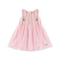 【3件2折:49.8】铅笔俱乐部童装2020夏季新款女童公主裙小童无袖连衣裙儿童裙子