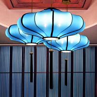 新中式布艺吊灯仿古典客厅餐厅茶楼酒店火锅店灯具工程婚庆红灯笼