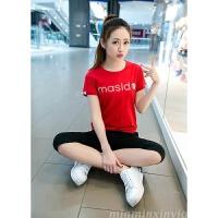 运动套装女夏季新款女装时尚韩版短袖T恤七分裤休闲服两件套