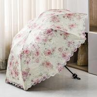 太阳伞花边女式蕾丝晴雨两用雨伞公主韩版小清新双层