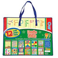 英文原版 英语学习挂图套装12张:基础技能 ABC/形状/颜色 12-Wall Chart Packs: Basic S