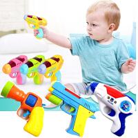 1-2-3岁小孩迷你投影电动枪声光男孩塑料耐摔儿童警察宝宝玩具枪