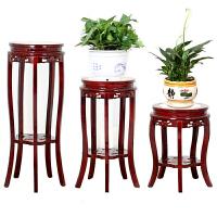 花瓶实木花架吊兰盆景客厅阳台中式木质圆形欧式仿古花盆鱼缸工艺品架品质