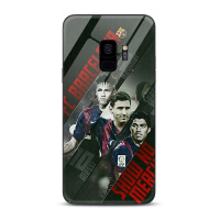 巴塞罗那AC米兰三星s9+手机壳Galaxy曲屏s8 plus玻璃壳s9足球潮牌