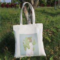 韩国简约帆布包女单肩手提包文艺拉链布包环保购物袋休闲学生书包