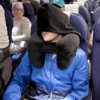 充气颈椎枕便携吹气枕飞机护颈枕U型枕旅行枕出国旅行