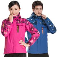 冬季冲锋衣男女三合一两件套防风防水登山服