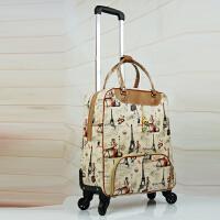 拉杆旅行包拉杆包万向轮旅行袋女手提登机箱轻便行李包防水旅游包