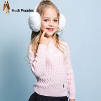 【3.5折价:160.65元】暇步士童装春季新款女童针织衫时尚清新甜美肌理套头线衣儿童针织衫