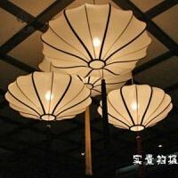 中式古典吊灯宫灯布艺灯笼餐厅会所茶楼酒店订做工程灯具