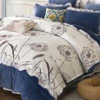 韩版珊瑚绒四件套加厚冬季法莱绒1.8m床单被套保暖法兰绒床上用品