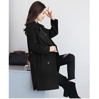 呢子大衣外套上衣女装2018秋冬新款呢子大衣女冬天外套中长款宽松显瘦毛呢外套韩版