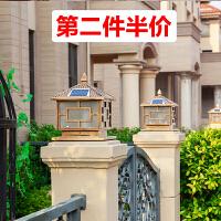 太阳能灯户外柱头灯大门围墙灯家用门柱灯别墅庭院灯防水