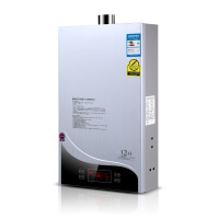 热水器 恒温强排燃气热水器 洗澡淋浴 智能速热热水器触控热水器 银灰色