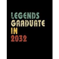 【预订】Legends graduate in 2032: Vintage Composition Notebook F