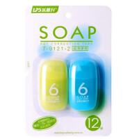 乐普升9121-2创意修正带6米 可爱果冻肥皂造型透明膜修正带 学生用品 改正带/涂改带 颜色随机发
