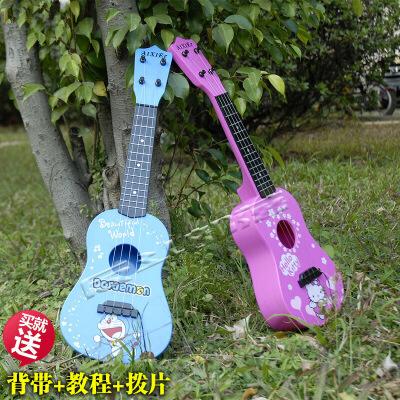 ?仿真尤克里里儿童玩具吉他卡通乐器宝宝3-10初学者女孩生日礼物