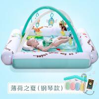 ?婴儿脚踏钢琴健身架器0-1-3-4-6-9-12个月岁护栏宝宝音乐玩具 钢琴款