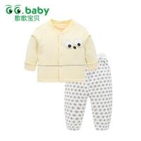 歌歌宝贝婴儿棉衣套装加厚冬装男宝宝外出夹棉内胆棉衣套装冬季