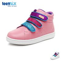 天美意teenmix童鞋缤纷女童休闲鞋儿童运动鞋 轻便休闲滑板鞋女孩学生鞋 (8-12岁可选) DX0247