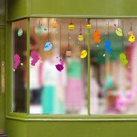 幼儿园墙面装饰品教室布置窗户窗花贴玻璃贴门贴纸3d立体墙贴画 特大