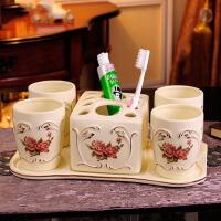 陶瓷卫浴四六件套浴室用品套件洗漱杯套装创意结婚洗漱套装