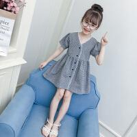 儿童连衣裙女夏新款韩版女童夏装洋气公主裙时尚中大童裙子潮