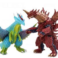 软胶银河战士奥特曼打小怪兽玩具哥莫拉雷德王艾雷王人偶模型套装