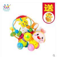 汇乐婴幼儿手抓球6-12个月宝宝健身球爬行小虫学爬玩具组合0-1岁