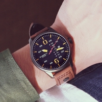 EYKI艾奇时尚男装手表带日历星期男士手表气质多功能石英手表3058