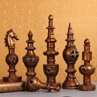 欧式复古艺术品酒柜摆件家居房间软装饰品玄关客厅摆设象棋工艺品
