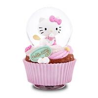 音乐盒八音盒水晶球女生儿童生日精品礼物创意旋转Kitty蛋糕 Kitty蛋糕(顺丰)