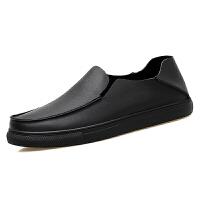 男士休闲鞋45懒人真皮皮鞋46一脚蹬套脚47乐福鞋48特大码男鞋