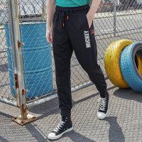 【1件5折到手价:94.5】美特斯邦威运动裤男2019夏季时尚印花图案设计潮流舒适男运动裤