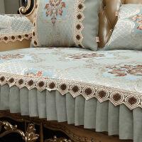 沙发垫欧式四季通用布艺防滑真皮坐垫套客厅123夏季美式