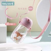吸管水杯可爱便携带盖水杯随手杯儿童创意耐摔tritan杯子a228