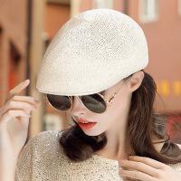 帽子女夏天鸭舌帽韩版贝雷帽潮时尚亮片女帽子春夏蓓蕾帽休闲百搭 可调节帽围范围(52-56cm)