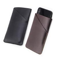 iPhone8/7/6splus皮套 保护套直插套 手机套壳 防摔内袋 4.7加大版 立体双层 哑光黑