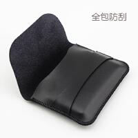 三星移动硬盘保护套T5 T3 ssd保护袋 全包防刮套 收纳包 皮套 黑色 插盖款
