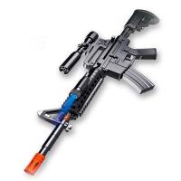 小男孩宝宝玩具电动声光儿童警察道具M4突狙击不可发射
