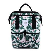 女手提电脑包 两用休闲印花书包双肩包 旅行背包
