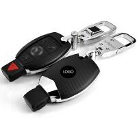 奔驰钥匙包C级GLA C200L GLC GLE S级扣E260glk E级汽车钥匙壳套